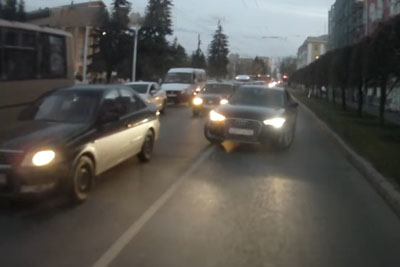 Wrong Way Driver In Russia Gets Road Justice In Best Way Possible