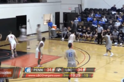 Basketball Player Passes To Coach By Mistake, Who Drains The Shot From The Sideline