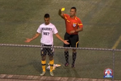 Footballer Scores A Goal, Then Delivers The Perfect Proposal