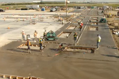 Concrete Buffer Steals The Show After It Goes Wild At Construction Site