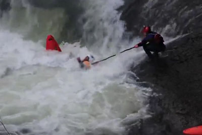 Kayaker Nearly Drowns Trying To Escape Churning Waters Beneath A Waterfall