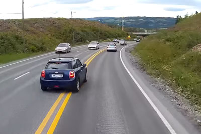 Idiot Brake Checks A Semi And Fails Miserably, Then Gets Instant Karma