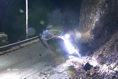 Monte Carlo Rally Spectator Killed In Fall After Driver Hayden Paddon Crashes On Icy Road