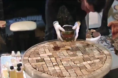Man Makes A Table Out Of Wooden Blocks. Once You See The Final Product You'll Be Speechless!