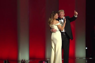 President Donald J. Trump And First Lady Melania Trump Share Their First Dance