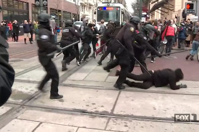 The Portland Police Bureau Was Quick To Respond As Protesters Blocked Traffic