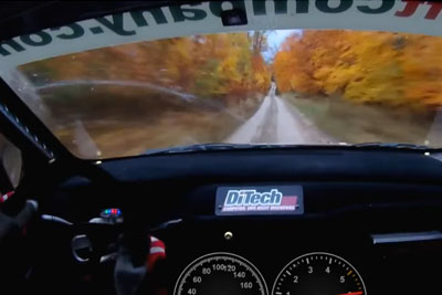Driving A Rally Car 130Mph Through A Forest Looks Even Crazier As It Sounds