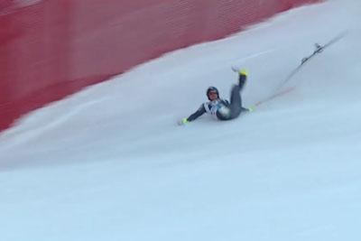 Skier Valentin Giraud Moine Gets In A Horror Crash At Garmisch Partenkirchen Downhill