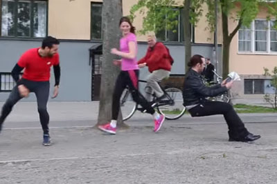 Magician Fools Everyone With Invisible Chair Prank