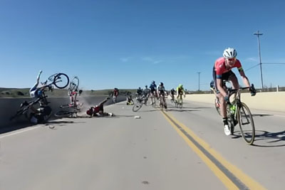 Final Sprint Crash Captured On Camera At Santa Barbara Road Race
