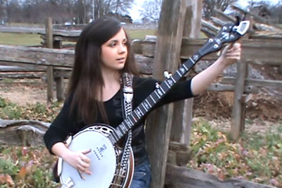 11-Year-Old Sits Down To Play The Banjo. Millions Are Falling In Love With Her Talent!