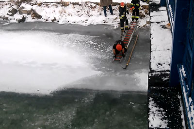 They've Heard Voices From Under The Ice, Then Firefighters Pulled This Out