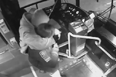 Old Man Stops Attack On Bus Driver Using His Cane On The Attacker