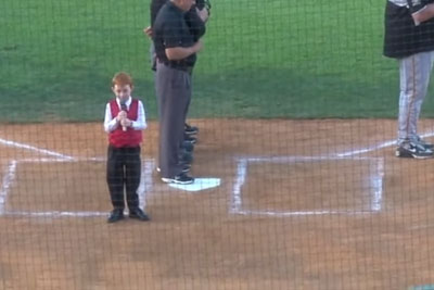 Kid Battles Through Hiccups And Still Performs Amazing Australian Anthem