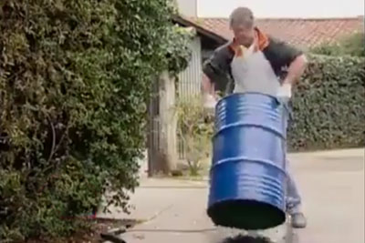 Man Transforms Used Barrel Into Something Everyone Would Have On The Garden