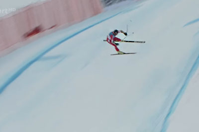 Olivier Jenot Crashes Hard At Super-G World Champs In St. Moritz