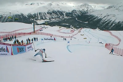 Kazakhstani Skier Falls Immediately After The Start