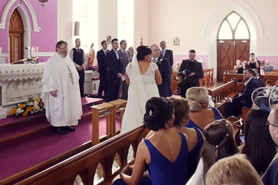 Ceremony Interrupted By Voice From The Back, Bride Turns Around And Bursts Into Tears