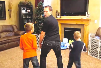 "Mom's Gone, So Dad And Triplets Record Hilarious Music Video To ""Sexy And I Know It"""