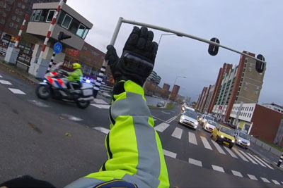 Police In Netherlands Escort An Ambulance To Make The Trip As Smooth As Possible