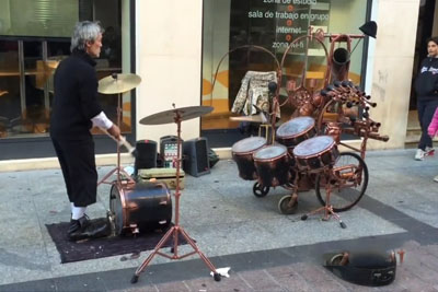 Drum Juggling Street Performer Will Blow You Away With His Skills