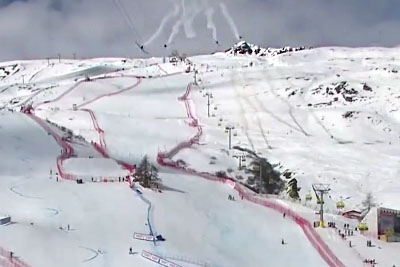 Camera Crashes To Ground After Being Hit By Plane In St. Moritz