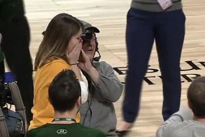 Siena Fan Hits Halfcourt Shot Then She Gets Best Surprise Ever