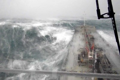 Breathtaking View From Ship In Bad Weather Northwest Of England