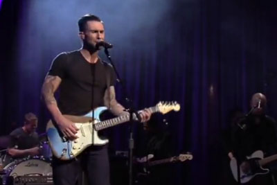 Adam Levine Sings 'Purple Rain,' But When You Watch His Fingers, It's Incredible