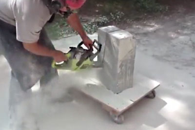 He Cuts A Big Stone On Half, Then He Carves Something That Makes Every American Proud