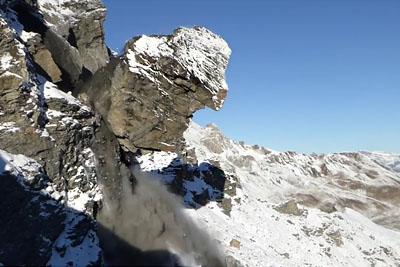 Massive Rockfall In Switzerland Captured On Camera