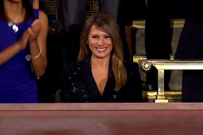 Melania Trump Receives Standing Ovation At The Address To Congress