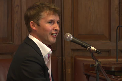 "James Blunt Delivers An Emotional Performance Of ""Goodbye My Lover"" At Oxford Union"