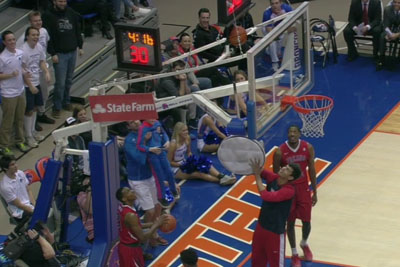 An Unexpected Hero Saves The Day After Basketball Gets Stuck Above The Rim