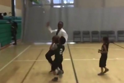 Youth Basketball Coach Brutally Rejects Kid Trying To Score On The Wrong Hoop