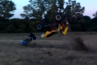4 Wheeler Jump Ends In Disaster With A Broken Neck