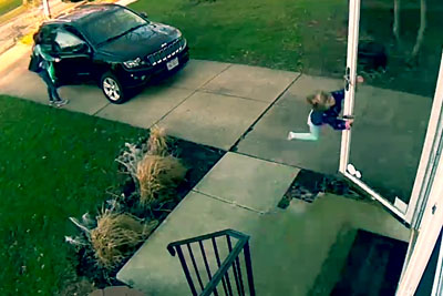 Video Shows Ohio Girl Almost Being Blown Away In Winds