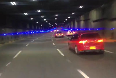 WATCH: AMG Mercedes Street Racer Trashes His Car In The Tunnel
