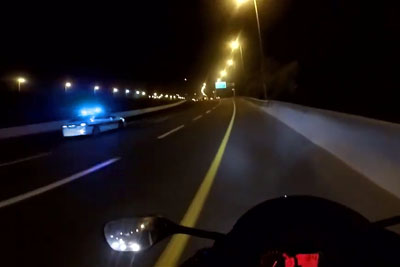 Motorcyclist Films Himself Being Asked To Pull Over, Blasts Off At 250 Km/h