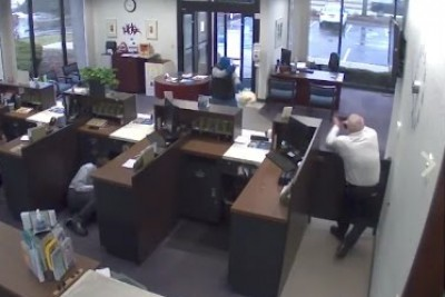Security Guard Saves The Day During Bank Robbery In Rockford