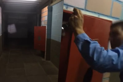 Creepy Footage Of A Door Repeatedly Slamming In A Morgue