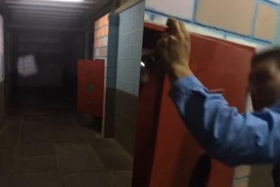 Creepy Footage Of A Door Repeatedly Slamming In A Morgue