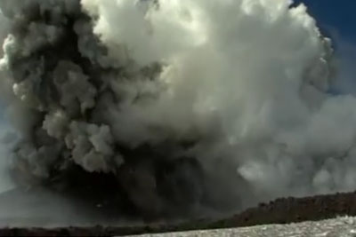 Watch The Moment A BBC Crew Get Caught Up In A Volcanic Blast On Mount Etna