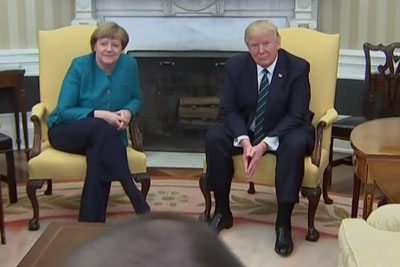 WATCH: Trump Completely Humiliates Angela Merkel. He Did Not Want To Shake Hands!
