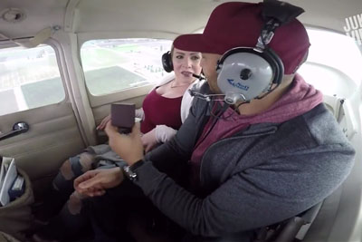 Romantic Proposal In The Plane Goes Horribly Wrong