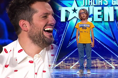 Italian Boy Makes All The Judges Laugh With His Special Performance On Italia's Got Talent