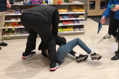 Lady Goes Crazy After She Shoplifts, Employee Takes Care For Justice