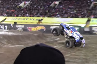 VIDEO: Monster Truck Does Frontflip In Las Vegas
