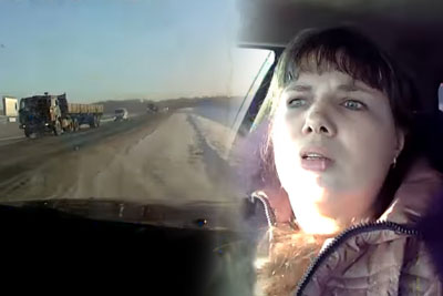 Russian Driver Gets A Lesson After Stupid Overtake With Child In His Car