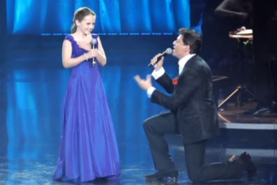 12-Yr-Old Girl Sings Duet With Famous Opera Star, Her Incredible Voice Brings Him To His Knees